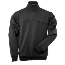 5.11 TACTICAL 1/4 Zip Job Shirt Medium - Regular Black