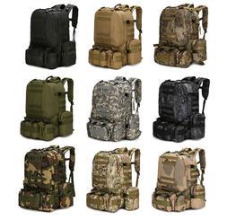 55L Molle Outdoor Military Tactical Bag Camping Hiking Trekk