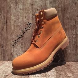 Timberland 6 Inch Premium Waterproof A1VEP Orange Wheat Men'