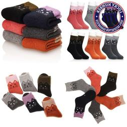 Eocom 6 Pairs Children'S Winter Warm Wool Socks Kids Boys Gi