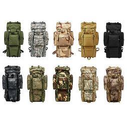 80L Outdoor Military Rucksacks Tactical Bag Camping Hiking T