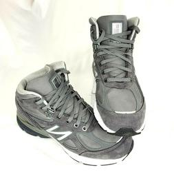 New Balance 990 V4 Mid Sneaker Hiking Boot Grey Made in USA