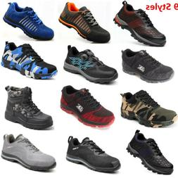 AtreGo Men Safety Shoes Boots Steel Toe Indestructible Ultra