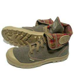 Palladium Baggy Canvas Fold Down Flannel Combat Hiking Boots