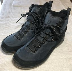 ECCO Biom Terrain Men's Leather GORE-TEX Hiking Boots Blue S
