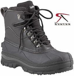 "Black Extreme Cold Weather Hiking Boots - Rothco 8"" Waterpro"