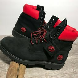 TIMBERLAND Black Suede Leather Lace Up Hiking Trail Boots Me