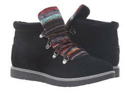 Skechers Bobs Alpine Knit Detail Hiking Boots Black - NEW