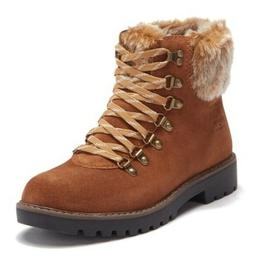 Boots 10 M Suede/Fur Cougar Hiking Ankle Winter Snow Storm/C