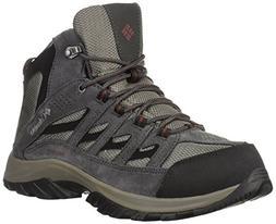 Columbia Men's CRESTWOOD MID WATERPROOF Hiking Boot, Quarry,