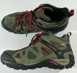 Merrell Deverta Mid Waterproof Hiking Boots Boulder Firey Re