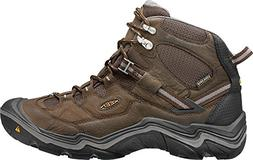 KEEN Men's Durand Mid Waterproof Hiking Boot,Cascade Brown/G