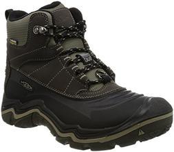 KEEN Men's Durand Polar Shell Shoe, Black Olive/Brindle, 12