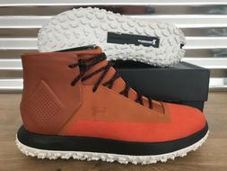 Under Armour Fat Tire Onda Mid Hiking Boots Orange Black SZ