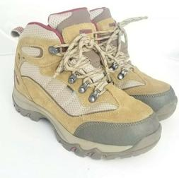 Hi-Tec Skamania Mid WP Waterproof Hiking Boots Womens 6 Tan