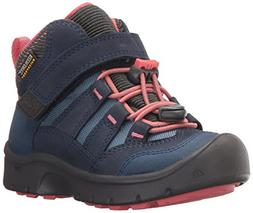 KEEN Kids' Hikeport Mid WP Hiking Boot, Dress Blues/Sugar Co