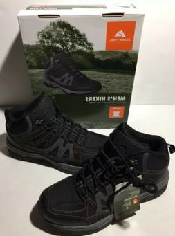 Ozark Trail Hiking Boots Size  9 Mens Black Grey Genuine Lea