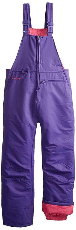 Arctix Insulated Youth Snow Bib Overalls Purple Medium