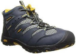 KEEN Koven Mid WP Youth Hiking Shoe ,Midnight Navy/Tawny Oli