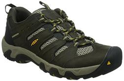KEEN Men's Koven Outdoor Shoe, Black Olive/Amber Green, 11.5