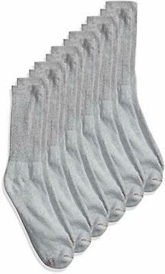 Hanes Active Crew Socks, 6 pack