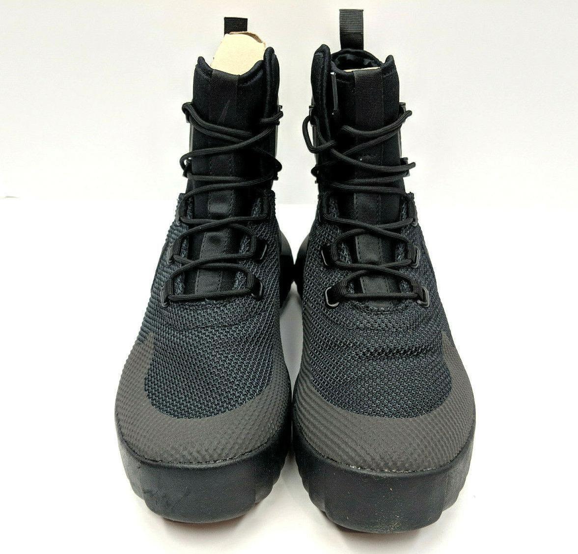 Nike Air Wild Mid Mens Triple Black Boots Trail Hiking 916819-001 NIB