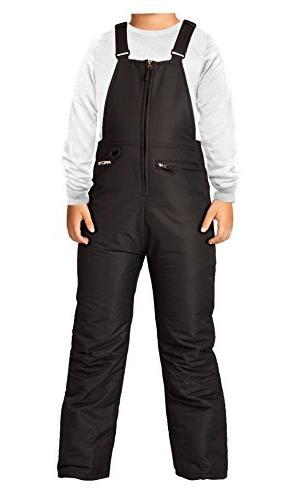 Arctix Youth Insulated Overalls Bib, Large, Black