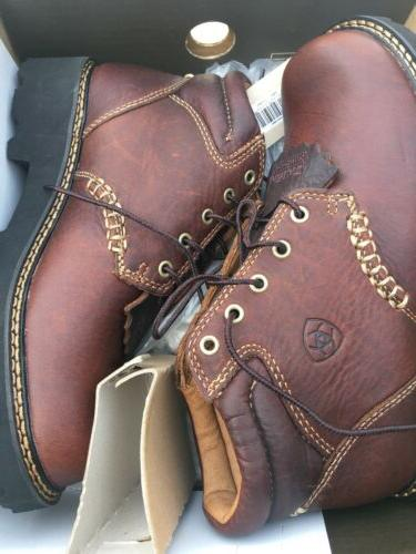 Ariat Ranch Boots Brown Up Ankle Work Hike Size