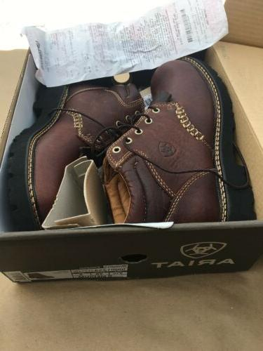 canyon ranch boots brown leather lace up