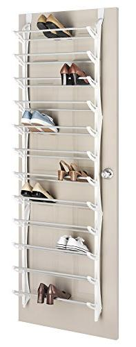 Whitmor Display Rack - Door-mountable - Resin, Steel - White