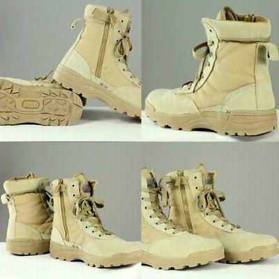 Forced Entry Leather Tactical Deployment Boots Hiking-Outdoor