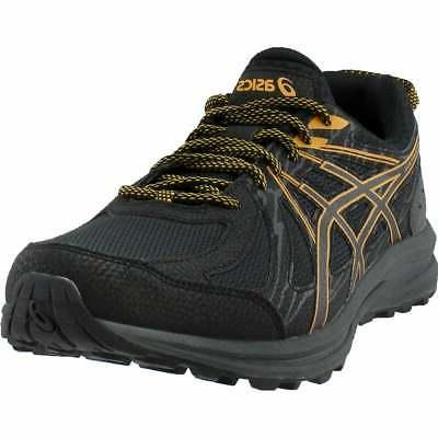 asics frequent trail casual running shoes  black