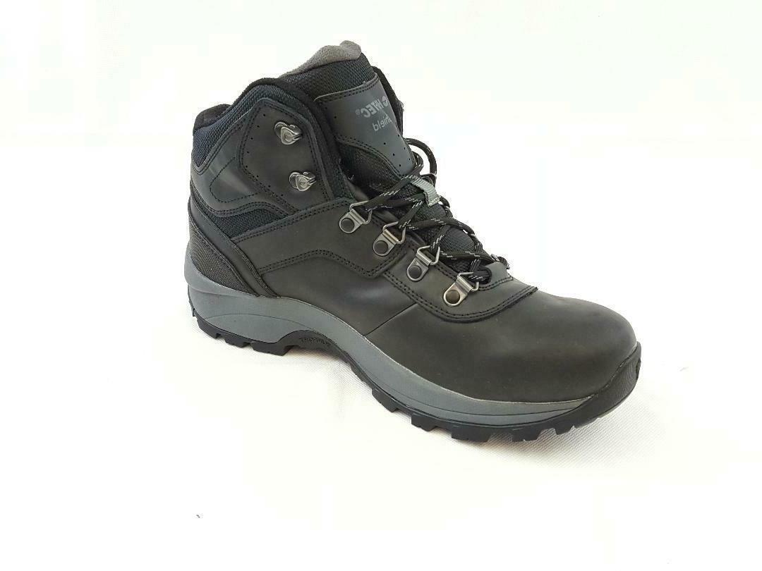 Hi-Tec Men's Hiking Boots Black Leather Waterproof Outdoor M