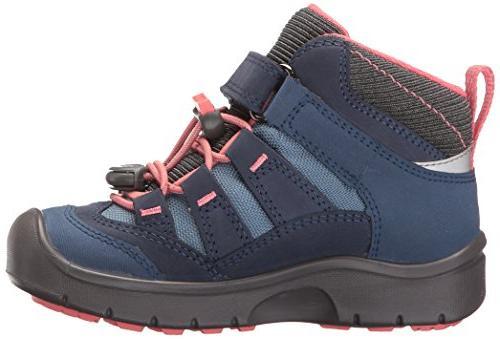 KEEN Mid WP Hiking Boot, Blues/Sugar US Toddler