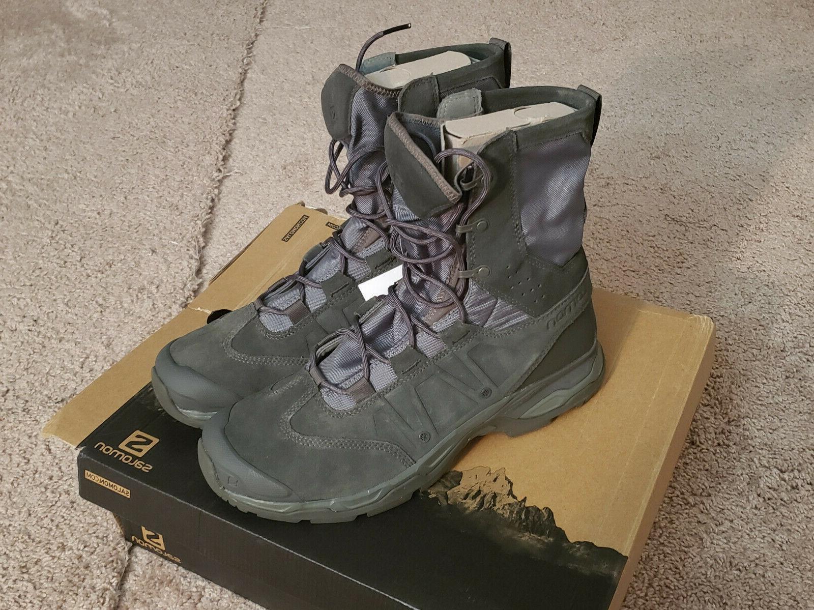 SALOMON 13 Ultra Forces Gray Green Hiking Devgru