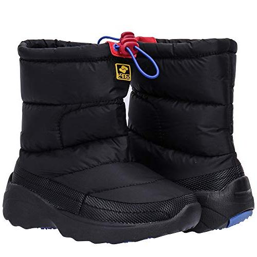 ALEADER Kids Snow Ankle Shoes Black 10 M