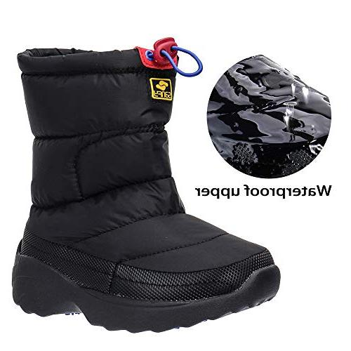kids waterproof winter snow boots outdoor warm