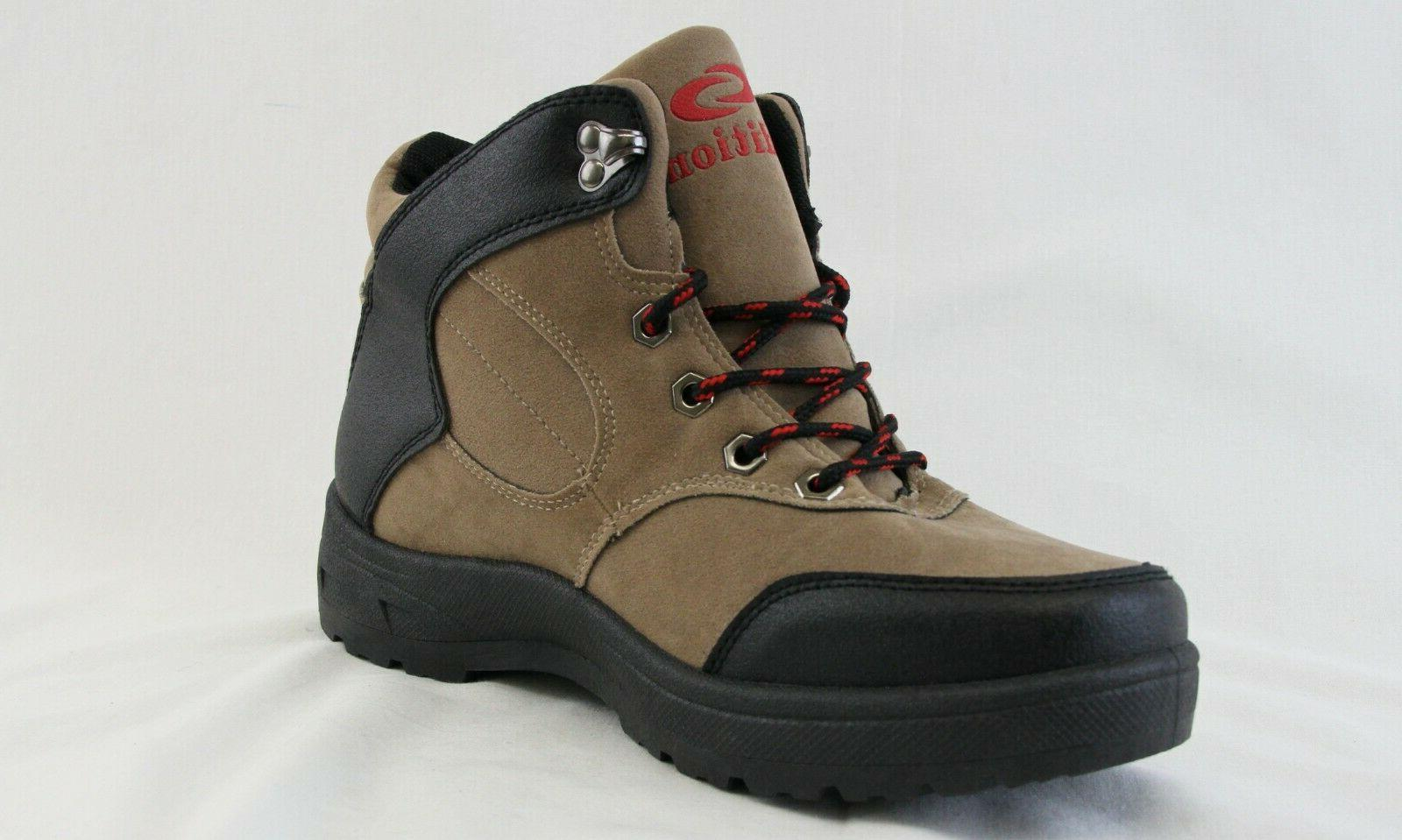 Men Up Hiking Boots Black Lightweight Walking Shoes