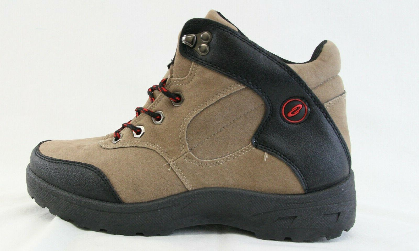 Men Lace Boots Khaki Black Walking Shoes
