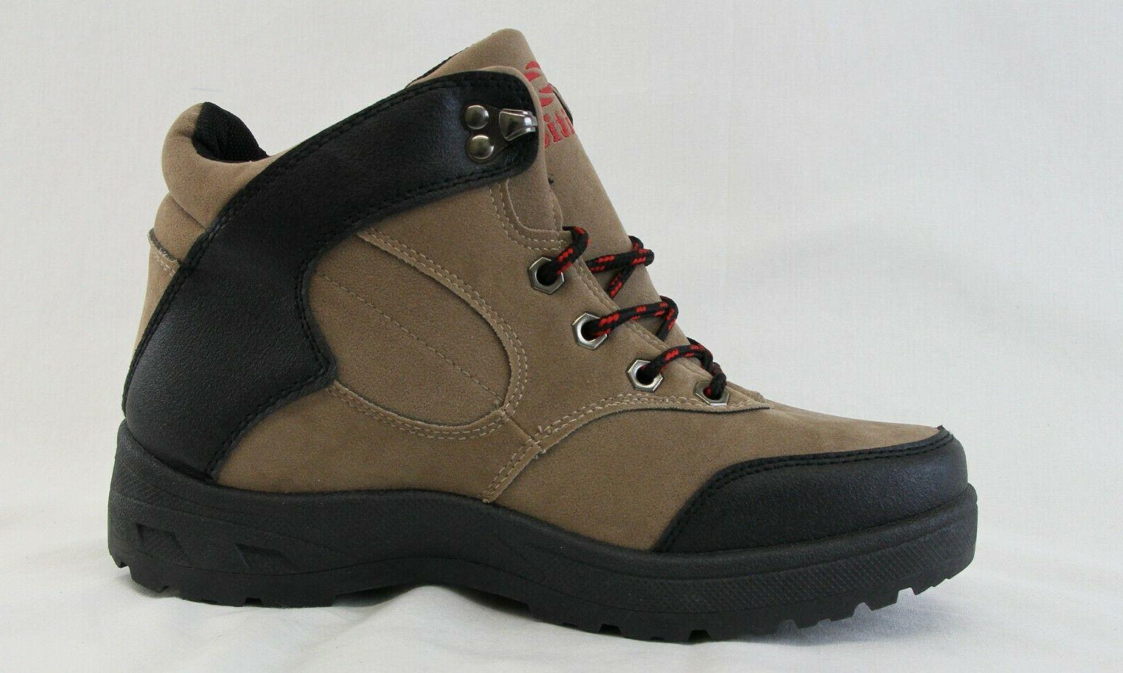 Men Up Boots Khaki Black Lightweight Working Shoes