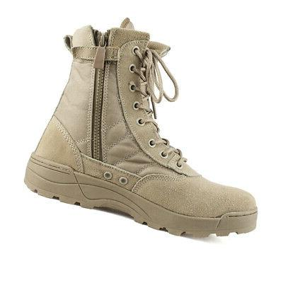 Men Leather Deployment Boots Hiking Shoes USA