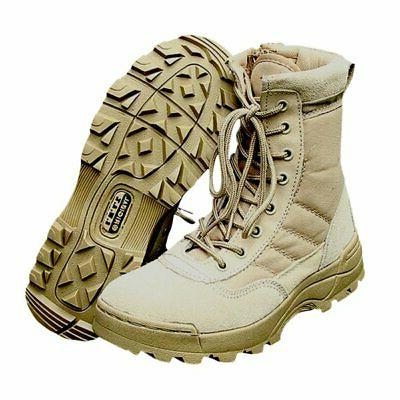 Men Leather Deployment Military SWAT Boots Shoes