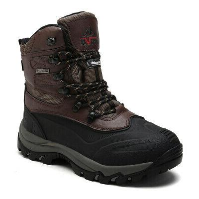 NORTIV Ankle Insulated Waterproof Outdoor Hiking Snow Skii Boots