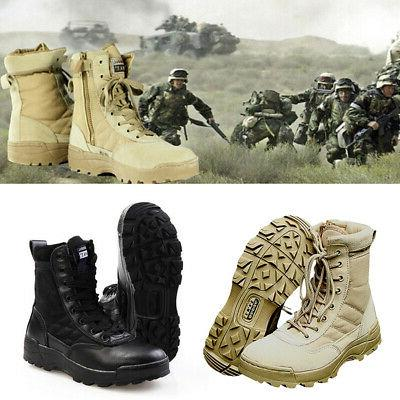 Military Tactical Leather Deployment Boots