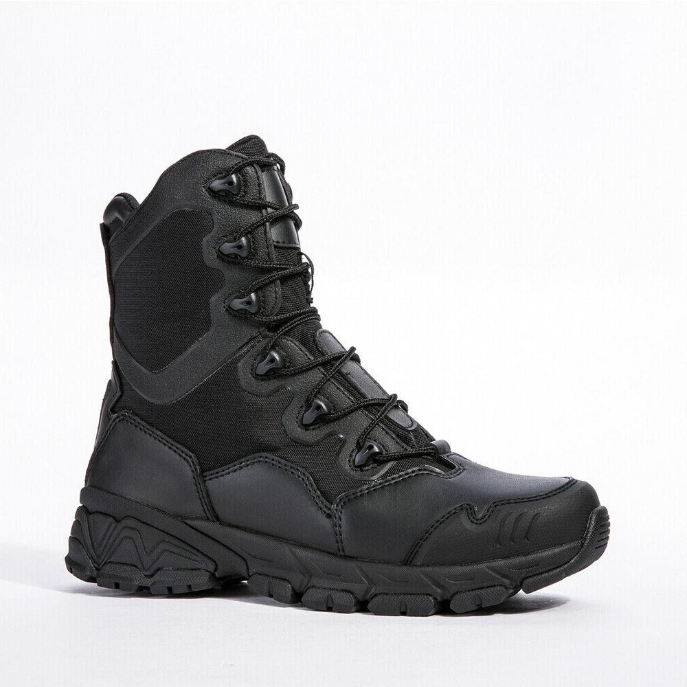 Mens Army Boots 8'' Zipper