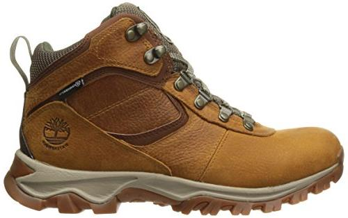 Timberland Mt. Mid Leather Boot, Brown Grain, 10 Medium