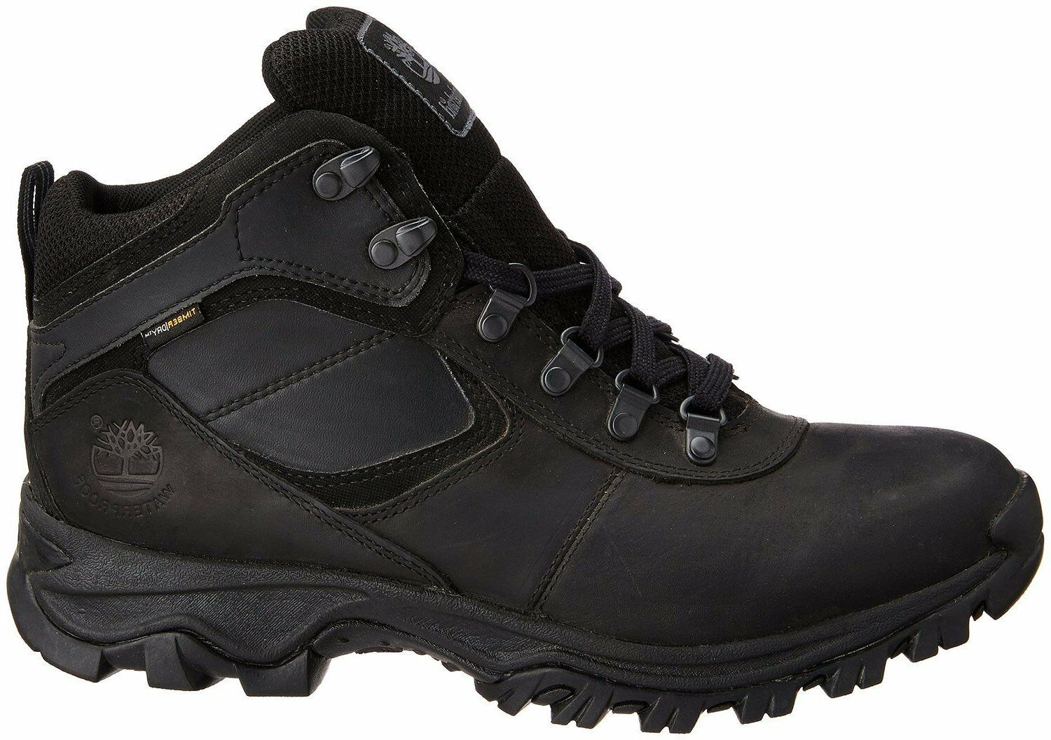 Men's Timberland Mid Waterproof Hiking Black 2731R Wide