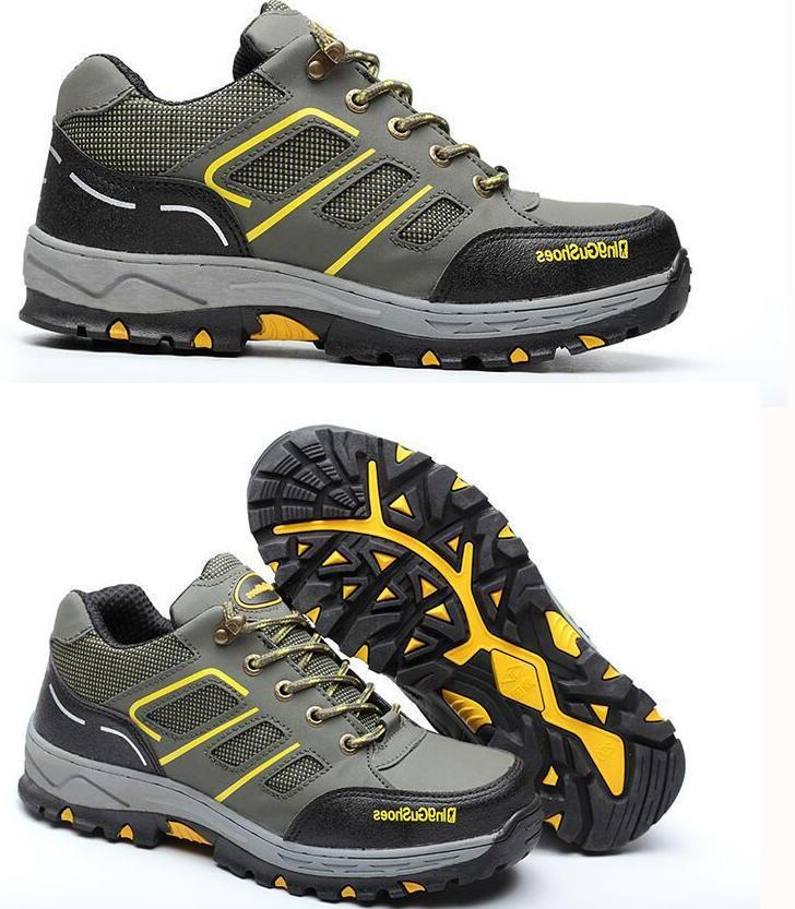 Men's Steel Toe Sole Breathable Hiking Boots