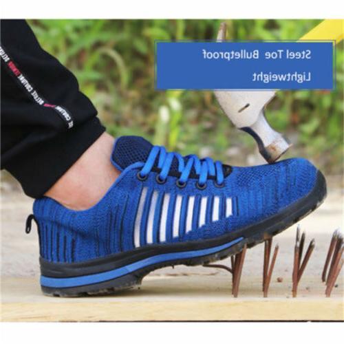 Men's Steel Toe Work Boots Hiking Sneakers