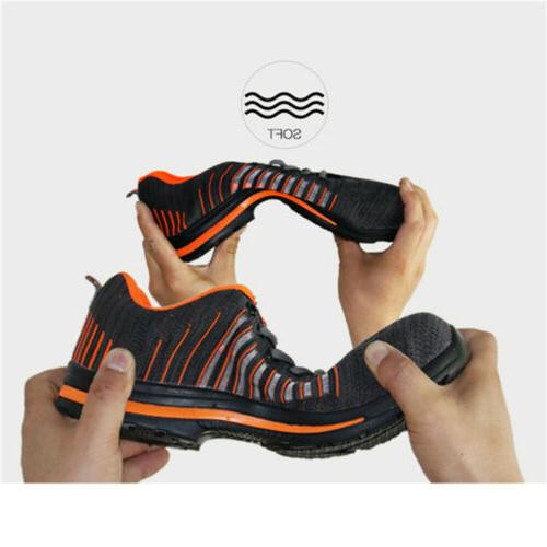 Men's Safety Toe Work Boots Breathable Hiking Sneakers